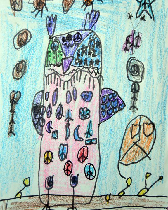"""""""Peace Owl"""" - C. Fay Fine Art"""