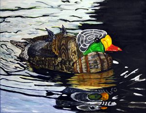 """""""Recycled Duck"""" Print - C. Fay Fine Art"""