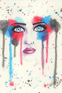 Watercolor Face 01