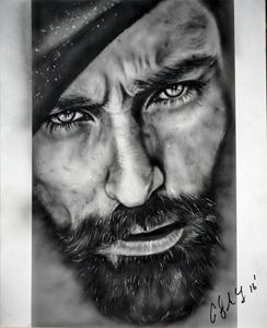 Photo realism done with airbrush