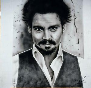 Johnny Depp Photo realism art