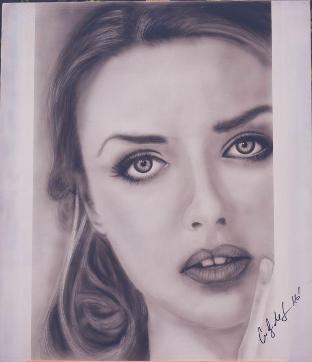 Fine art photo realism painting - Cody LeBouef