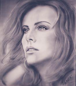 Charlize Theron original painting
