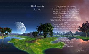 The Serenity Prayer landscape