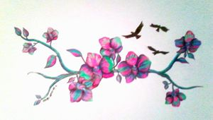 Orchid dreams. - Rachel.Wemyss.Art.
