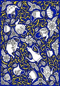 Tea Time Blue & Yellow