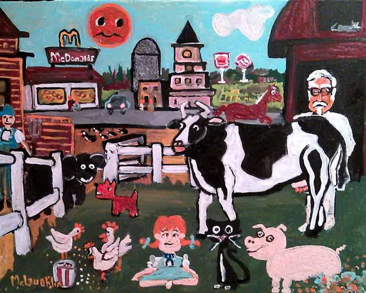 AMERICANA HAD A FARM - Gregory McLaughlin - Artist