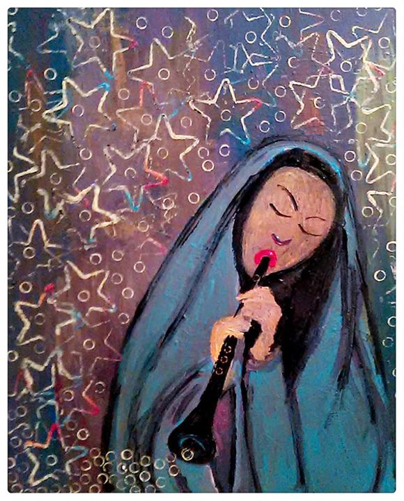Woman with Woodwind - Gregory McLaughlin - Artist