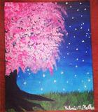 Midnight Cherry Blossom