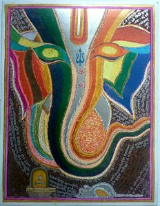 Lord Ganesha abstract