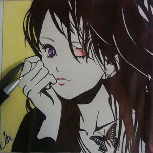 winking girl
