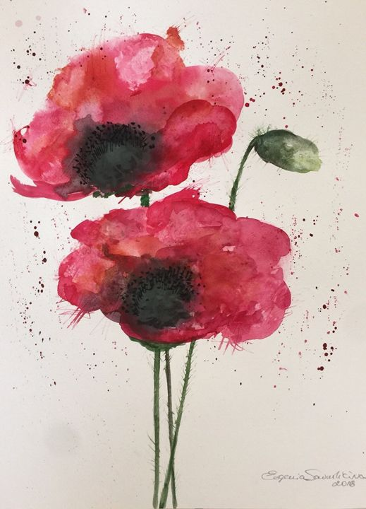 Red Poppies - Jane