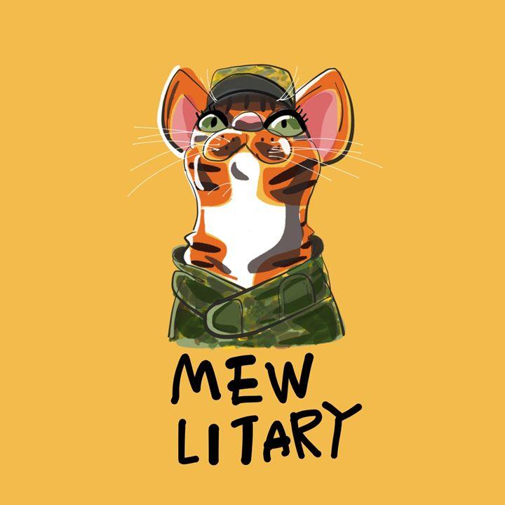 MEWlitary - dailycatfeine
