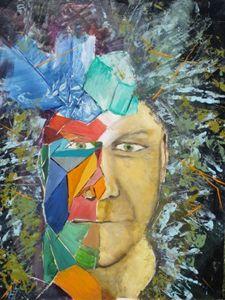 Fractured portrait