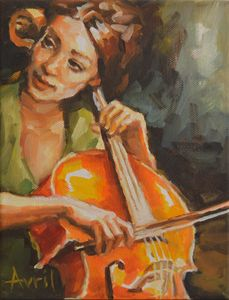 Cellist in Green