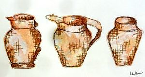 Stitch Collage Jugs/Vases