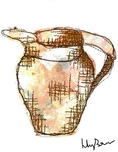 Stitch Collage Jug