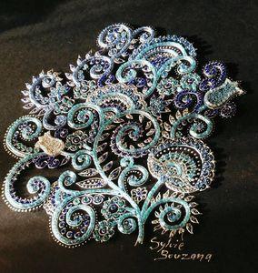 mosaïque perles de rocaille