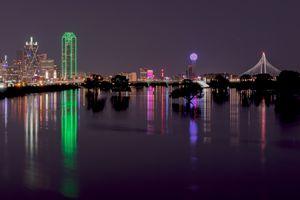 Skyline of Dallas, Texas at Night