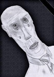 sad man in noir