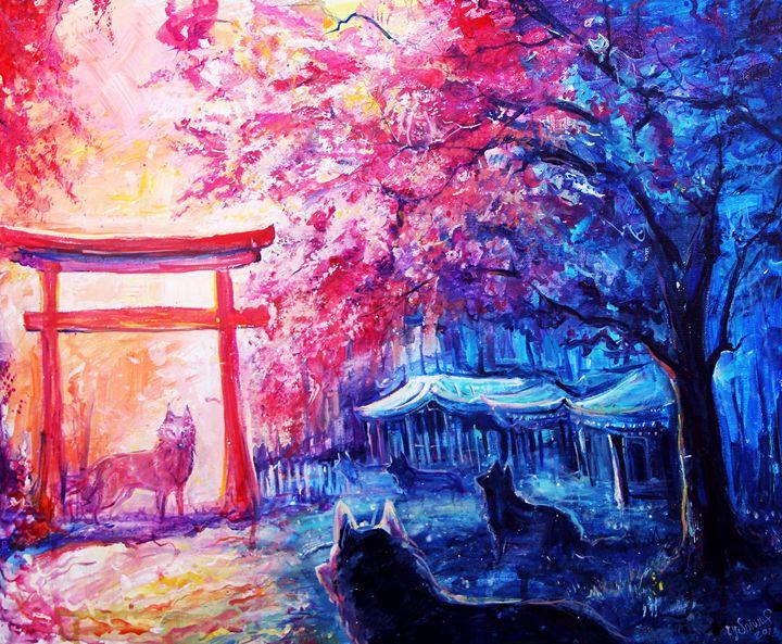 Wolf gathering - Sannywolf art