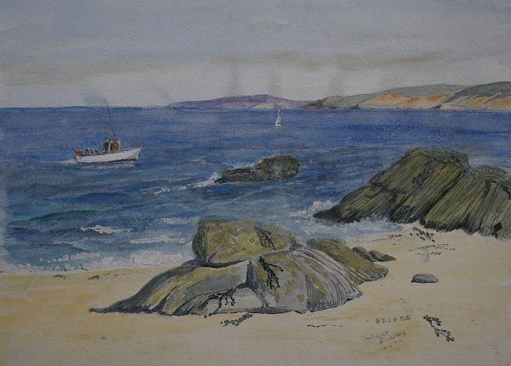 Done Fishing - Artist Janet Davies