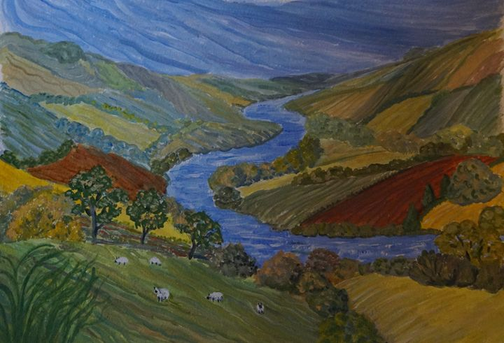 Impression Of Exe Valley - Artist Janet Davies