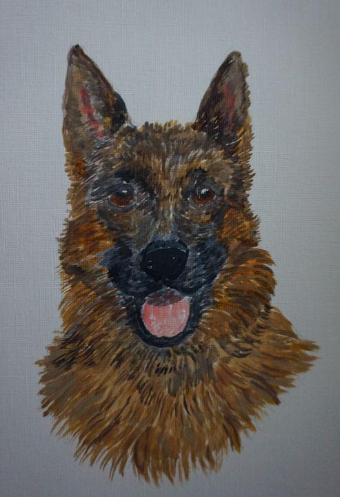German Shepherd Dog - Artist Janet Davies