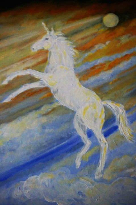 Unicorn In The Sky - Artist Janet Davies