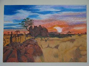 Sunset in the Kalahari South Africa
