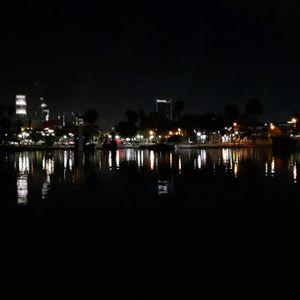 Night lake and view