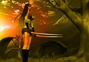 vampire fighter girl