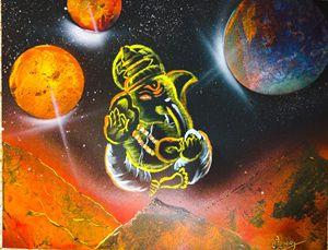 Ganesha Spray Paint Art