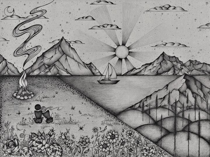 Campfire Dream - Zan Schaefer Art