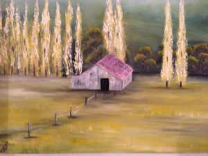 "Oil painting ""Cottage"""