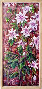 Clematis on a Wall - Jensart
