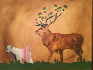 Maracas stag follows bear in tutu