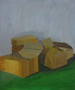 Boxes Painting Stilllife Sept 2013
