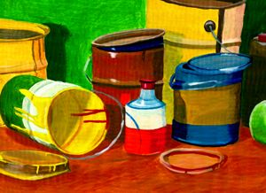 Paint cans in all sizes
