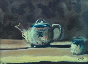 Still Life with Teapot and Sugar