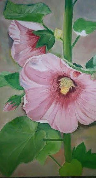 San Juan Capistarano Flower 24x36 - YAMILE GAEZ