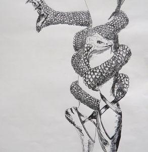 Ballet snake ribbons