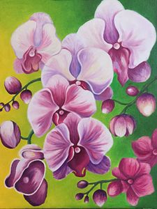 Orchids. Original oil painting