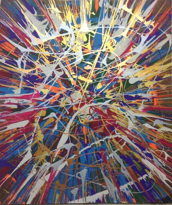 Throwin paint - Michigan spin art