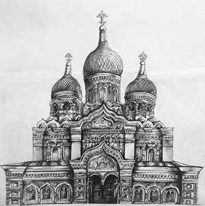 Cathedral in Ink