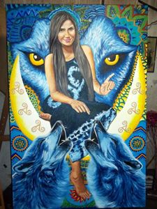 Wolf Woman of the Blue Corn Moon
