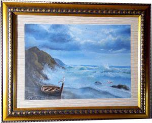 boat in row coast shinesun