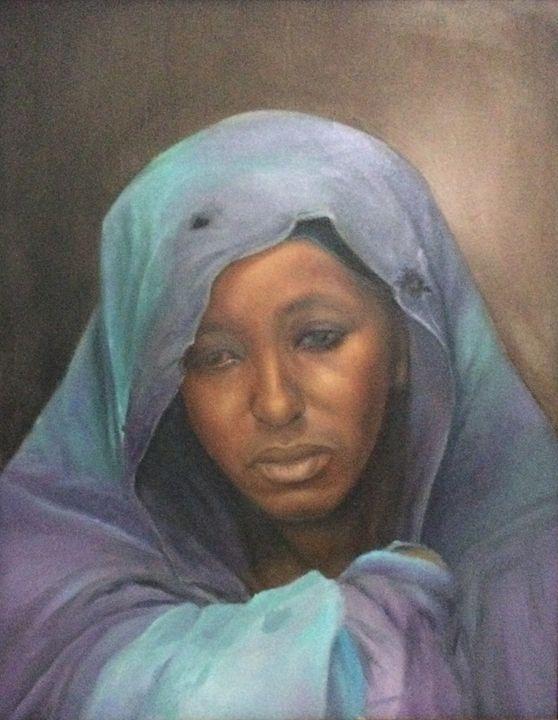 Sad Mother - Shani Rufai with Paint