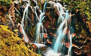 Mount Raineer Waterfall