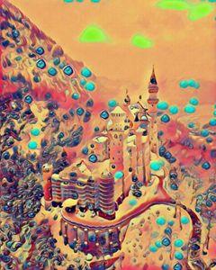Neuschwanstein Castle abstract